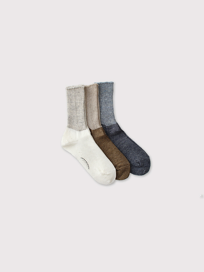Rib combi color socks【SOLD】 2