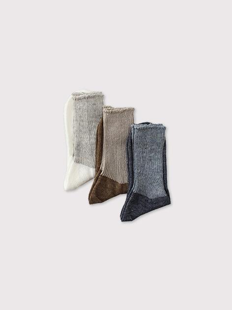Rib combi color socks【SOLD】 3
