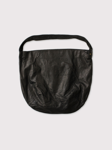 Round tote L~leather【SOLD】 4