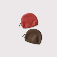 Round pouch~cow leather