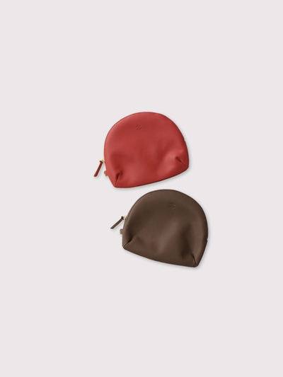 Round pouch~cow leather 1