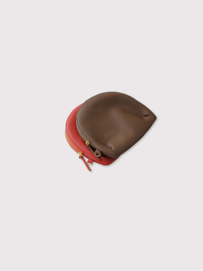 Round pouch~cow leather 2