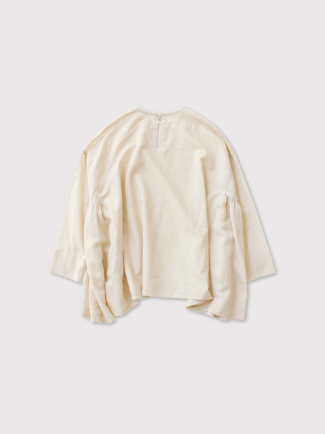 Side gather tent line blouse 2