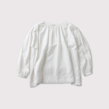 shoulder button gather blouse short