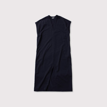 Front slit V neck dress【SOLD】
