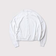 Bulky sleeve balloon cardigan short