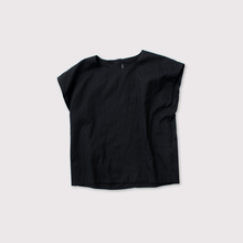 Two ply front nosleeve blouse