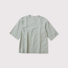 【※】Back button woven T-shirt