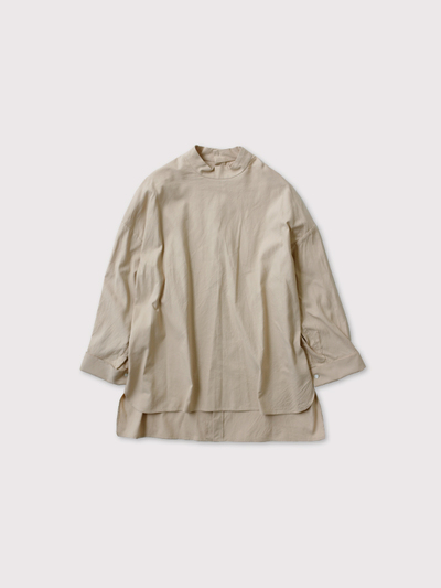 Stand col back open shirt【SOLD】 1
