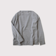 Woven boat neck T-Shirt