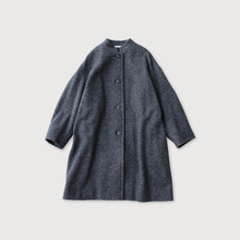 Stand collar boxy middle coat【SOLD】