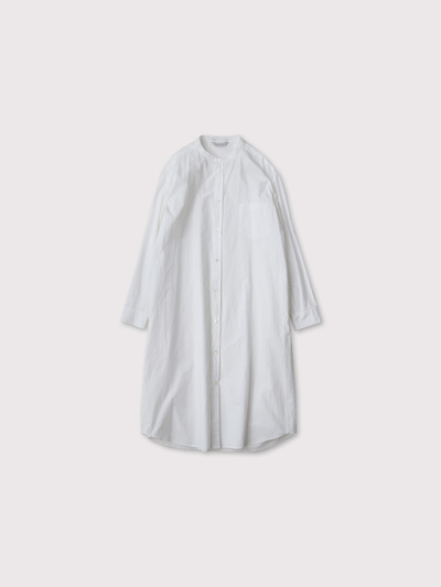 No collar fake shirt long 2