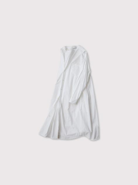 No collar fake shirt long 3