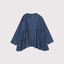 Side gather tent line blouse 1