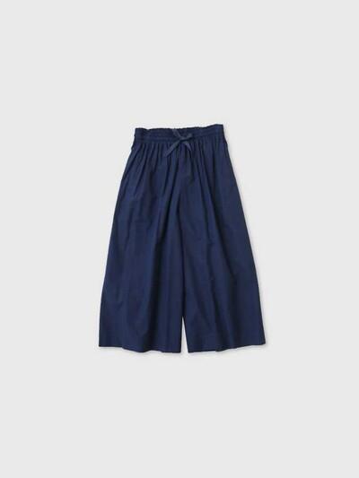 Front string wide pants short 1