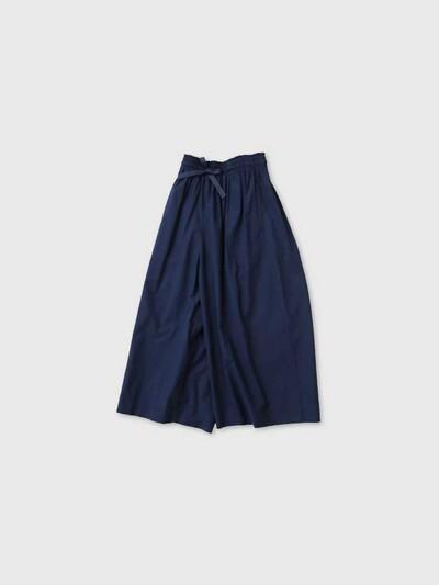 Front string wide pants short 2