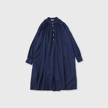 Button front gather blouse